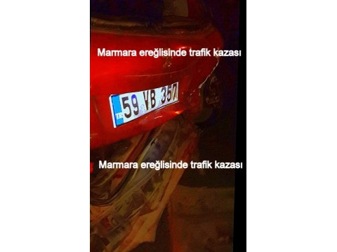 Marmara ereğlisinde ışıklarda trafik kazası