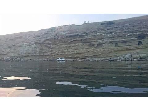 Arkadanizde uçurumdan aşşağı düşen araç-Marmaraereğlisi