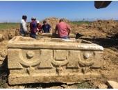 Ereğli'de bulunan lahitler okutuldu,marmaraereğlisi