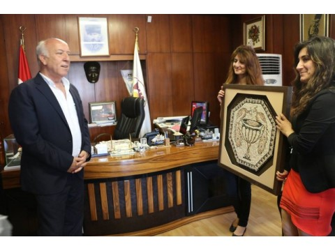 Halk Eğitim Merkezinden Belediye Başkanına Teşekkür Ziyareti