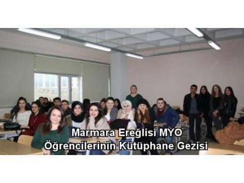 Namık kemal üniversitesi MYO Kütüphane gezisi