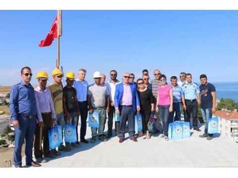 Yeni hizmet binasının kaba inşaatını bitti,marmaraereğlisi