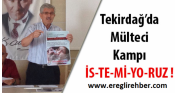 Mülteci kampı istemiyoruz !Tekirdağ