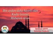 Belediyeden Kadir Gecesi Mesajı , Marmara Ereğlisi