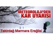Tekirdağ Marmara Ereğli'sine Kar Geliyor