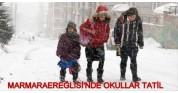 Ereğlide Okullar Tatil Edildi !19.01.2016