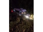 Tekirdağ Lastiği Patlayan Minibüs Yoldan Çıktı 15 Yaralı